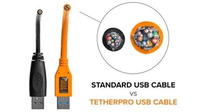 Przewód Tether Tools CUC3215-ORG 4,60 m pomarańcz