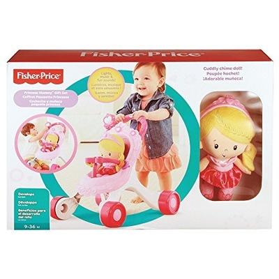 Fisher Price DGM71 Košíka, tlačné s bábikou, Księżnczką