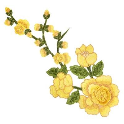 роза цветок полоса ЖЕЛТАЯ длинная большая аппликация