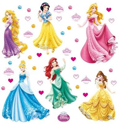 Nálepky na stenu Princess Disney 30x30 AG Design