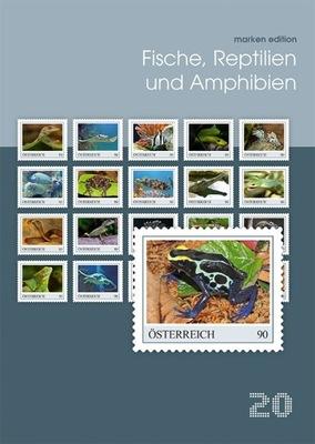 Austria 2019 Znaczki Ark ** ryby gady węże żółwie
