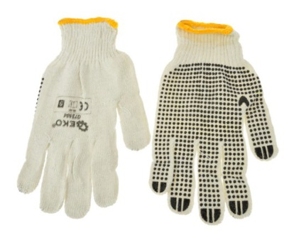 перчатки рабочие ВЯЗАНЫХ натуральные КРАПИНКУ