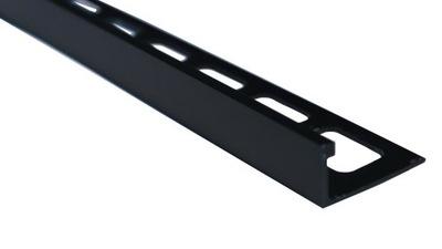Планка ALU Угловой L10mm черная мат шпаклевка