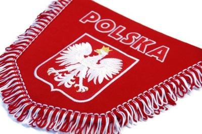 PROPORCZYK haftowany pięciokątny POLSKA TIR BUS cz