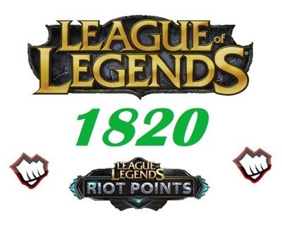 League of Legends 1820RP Riot Points EU NordicEast