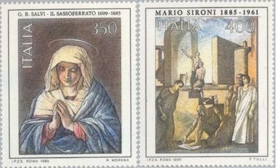 Италия 1985 Марки Мне 1930-1 ** живопись Sironi