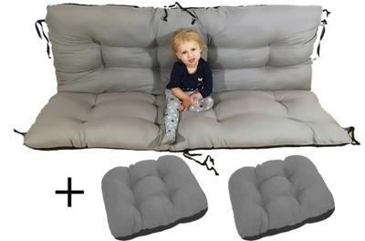 подушка на скамейку качели 180x60x50 см + 2X48X48
