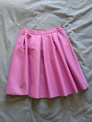 MOHITO różowa spódnica z falbanką SCUBA z pianki M