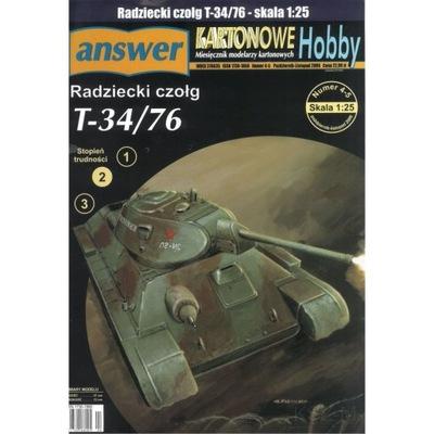 Ответ 4 -5 /06 Советский танк Т-34 /76 1 :25