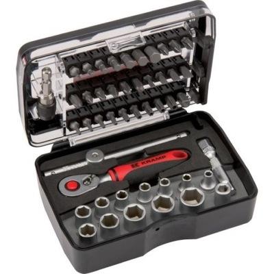 Sada nástrčných kľúčov 1/4 palca, 47 kusov