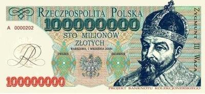POLSKA 100 MLN ZYGMUNT III WAZA- 2005 rok F413