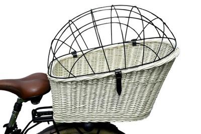 DUŻY Koszyk kosz WIKLINOWY NA ROWER bagażnik 3 kol