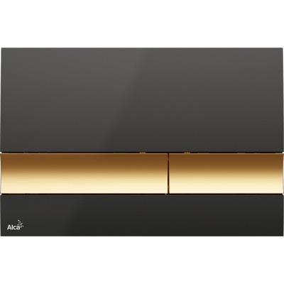 Alcaplast tlačidlo black / gold glitter M1728-5