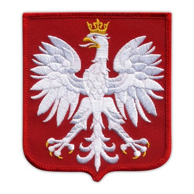 Полоса Эмблема  -ГЕРБ ПОЛЬШИ- польский  , большой Узор
