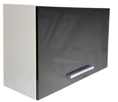 Шкаф кухонная instagram ??????????  люк блеск черный 80