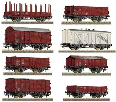 комплект грузовых вагонов - 8 штук Roco 44003 ХО