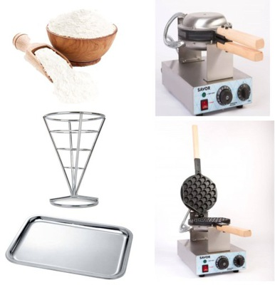 Gofrownica Вафли Пузырь Egg Bubble Waffle Maker