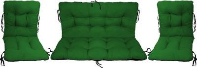 Подушки на мебель Ротанг РОТАНГА комплект 2 +1 зеленый