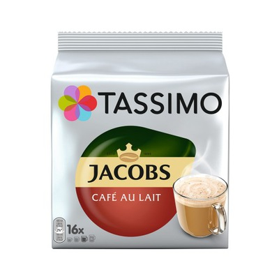 Tassimo ДЖЕЙКОБС CAFE AU LAIT, 16 штук