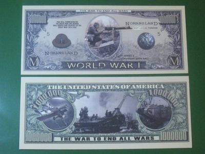 1000000 $ Купюра ??? первая Мировая Война UNC