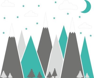 Detské nálepky na hory do hôr, 100 cm