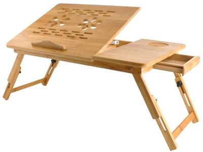 Drewniany Biały Stolik Pod Laptopa Taca Do łóżka