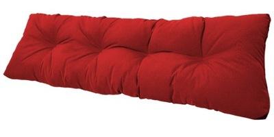 подушка на скамейку садовую качели 120x38 красн