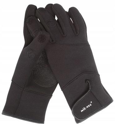 Rękawice NEOPRENOWE rękawiczki MYŚLIWSKIE czarne M