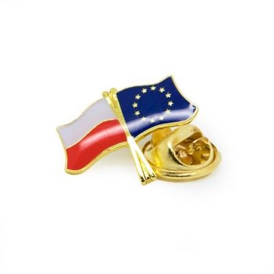 Флаг польский  - ЕС, Евросоюз , застежка, pin-код