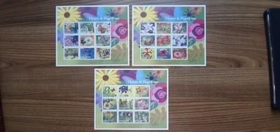 Motyl - Motyle - 3 Bl.+ 3 Ark. + znaczki