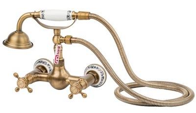 RETRO sprchové batérie, sprcha starého zlata