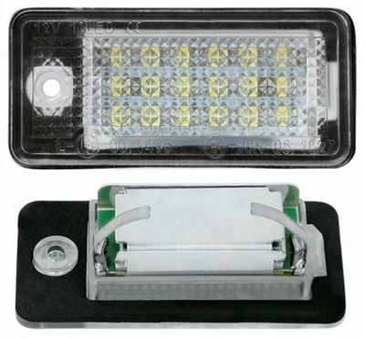 LAMPKI LED ФАРА НОМЕРНОГО ЗНАКА DO AUDI A3 8P A4 B6 B7 A6, фото