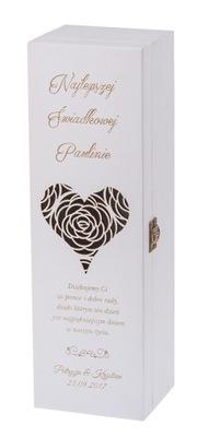 Úložný box - SKRZYNKA na wino wesele PODZIĘKOWANIA prezent