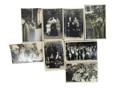 Stara fotografia czarno-biała/8 zdjęć/ zestaw 2
