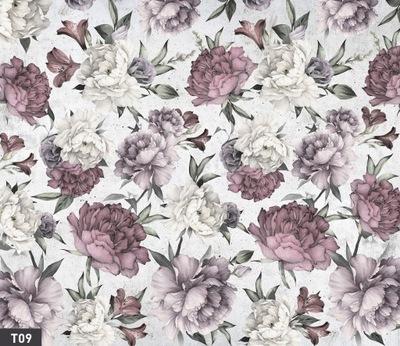 Tapety kvety PIVÓNIA retro SAMOLEPIACE