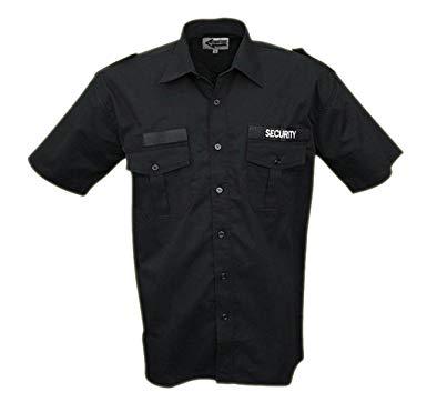 черная рубашка защита от короткого рукав 100 % ХЛОПОК