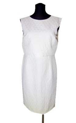 Asos biała midi sukienka wiązana ołówkowa 40 l Zdjęcie na