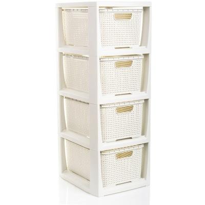 Стеллаж Ванны с тележками Ротанг шкаф стоящая