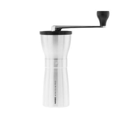 Mlynček na kávu Hario Keramické Kávy, Mini-Slim Silver PRO