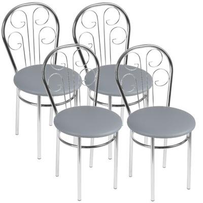 Komplet 4x Krzesło Krzesla Kuchenne CEZAR