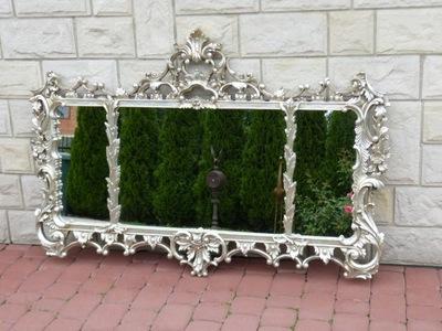 СЕРЕБРЯНЫЕ TRZYPŁATOWE зеркало С короной