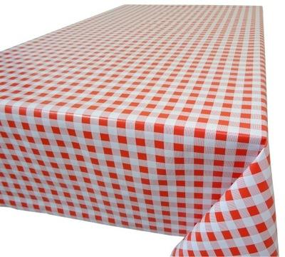 клеенка на метры СКАТЕРТЬ НА стол красная KRATKA140CM