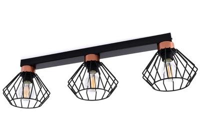 Luster, stropné lampy, 3 L drôt lampshades loft