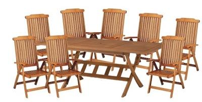 Záhradný nábytok drevený stôl, exotické drevo