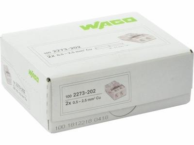 Rýchly konektor pre kábel WAGO pôvodné 2x2,5 100ks