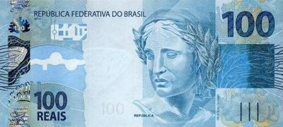 БРАЗИЛИЯ 100 Реалов 2010 P-257b подпись 42 UNC