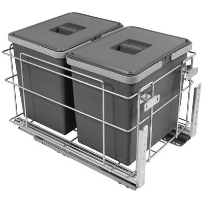 Корзина Сортировщик на мусор 40 EXCLUSIVE 2X15L