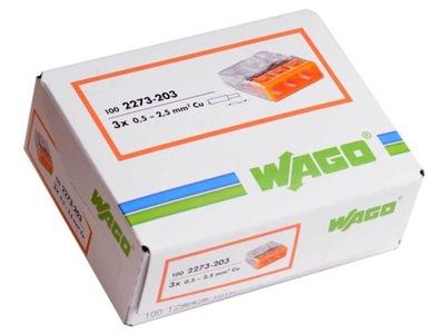 WAGO rýchly konektor 2273-203 100 KS