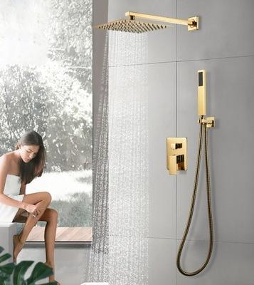 Podomietková sprchová sprchová sada v zlatom zlate