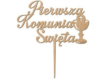 TOPPER na tort komunijny Komunia Święta HOSTIA eko